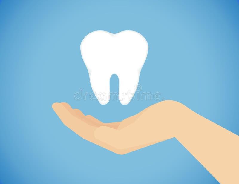 Ząb opieka royalty ilustracja