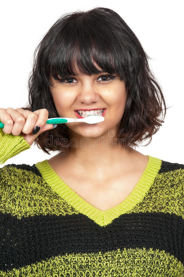ząb piękna target1044_0_ kobieta zdjęcie stock