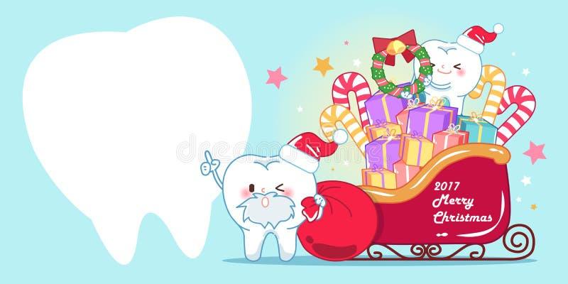 Ząb z bożymi narodzeniami ilustracja wektor