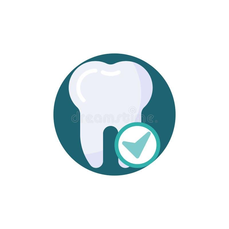 Ząb z czek oceny mieszkania ikoną ilustracja wektor