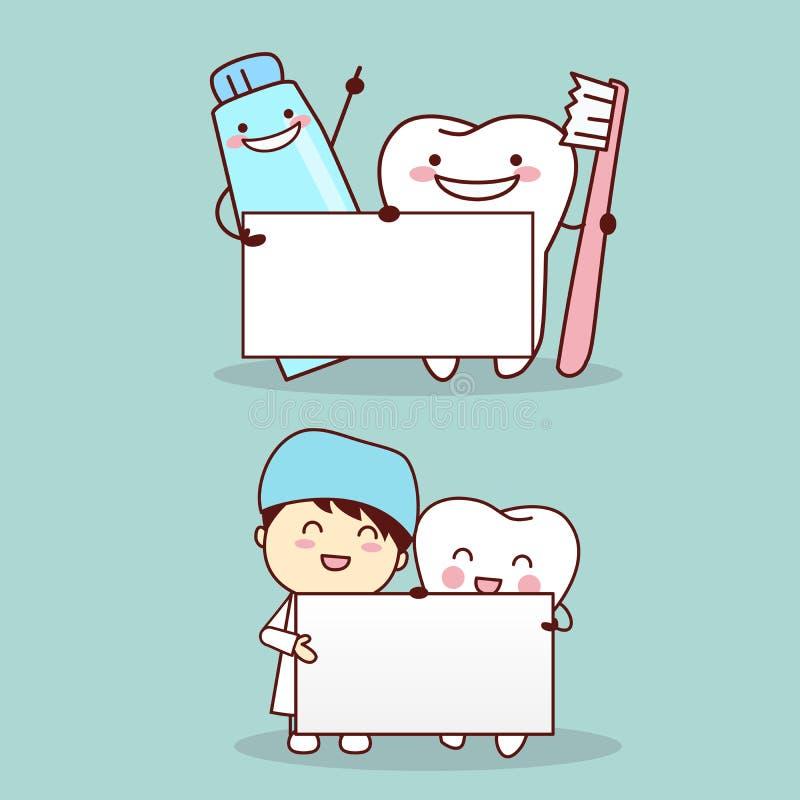 Ząb z dentystą ilustracja wektor