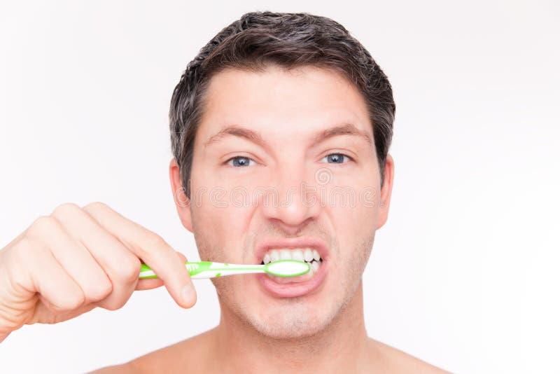Zębów mężczyzna opieka zdjęcia royalty free