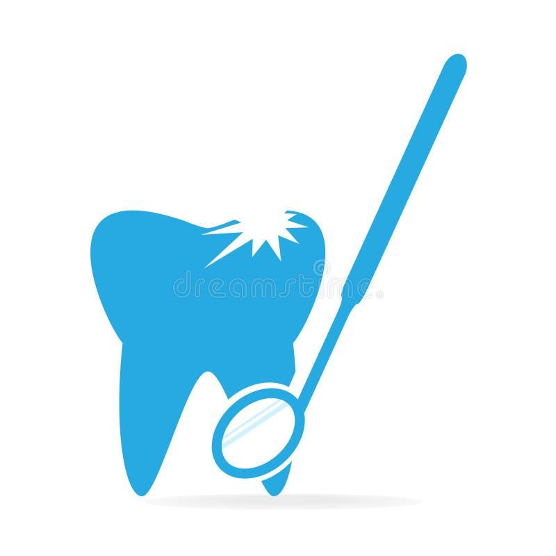 Zębów zagłębienia i dentystów narzędzia ikona, stomatologicznej opieki ikona royalty ilustracja