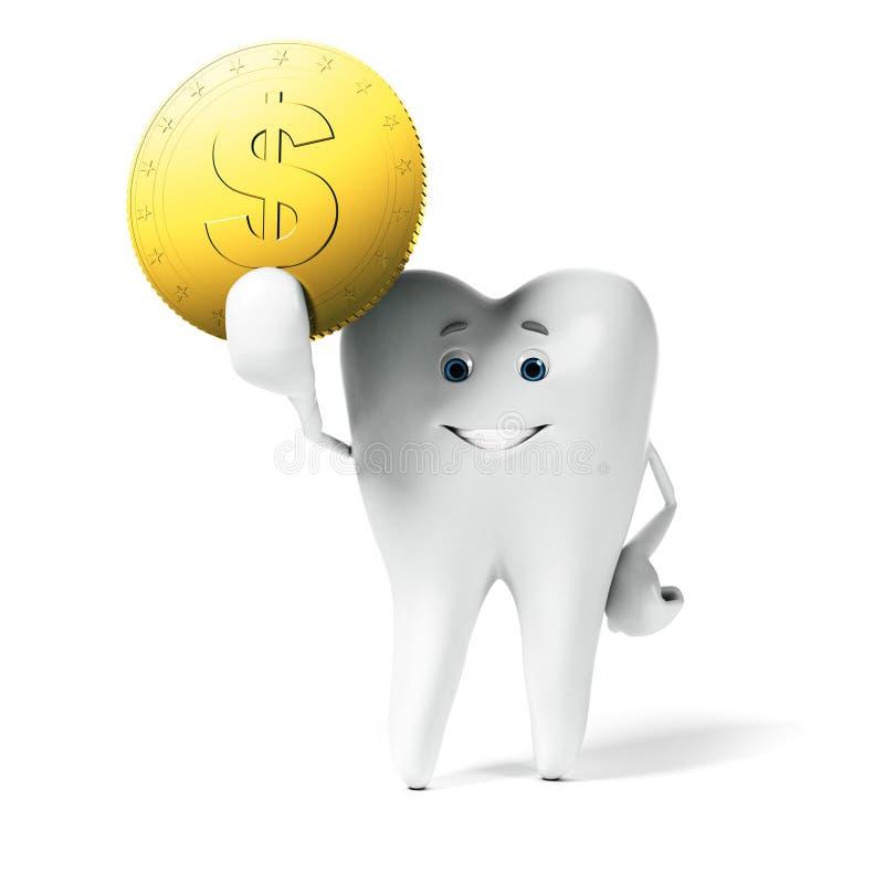 Zębu charakter ilustracja wektor