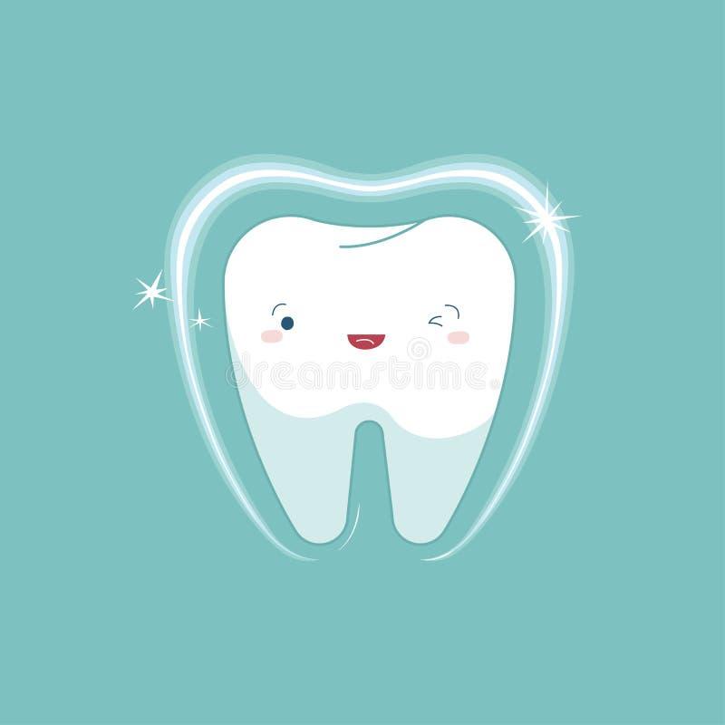 Zębu dobieranie stomatologiczny, kreskówki pojęcie obraz stock