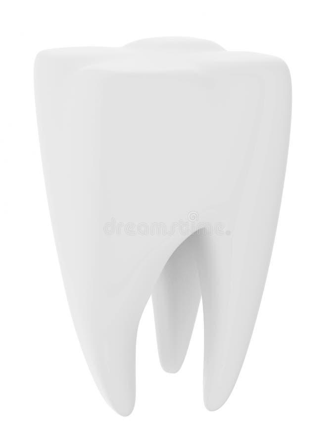 zębu odosobniony biel ilustracja wektor