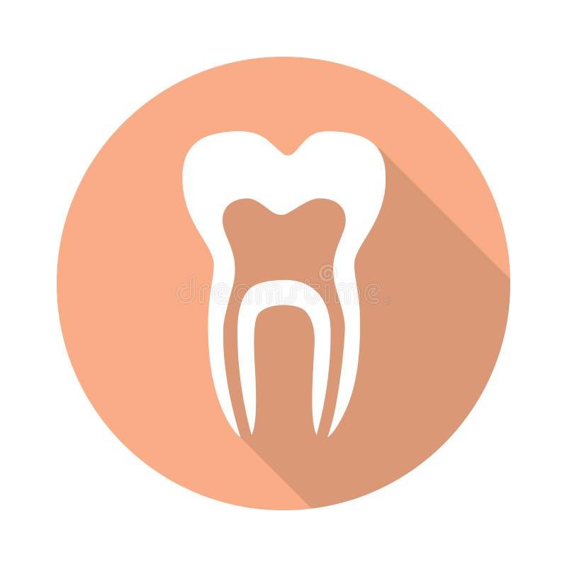 Zębu symbol w okręgu ilustracji