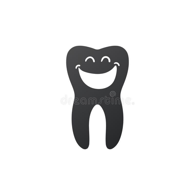Zębu uśmiechu stomatologiczna ikona, zdrowy czysty ząb Wektorowa ilustracja odizolowywaj?ca na bia?y tle ilustracji