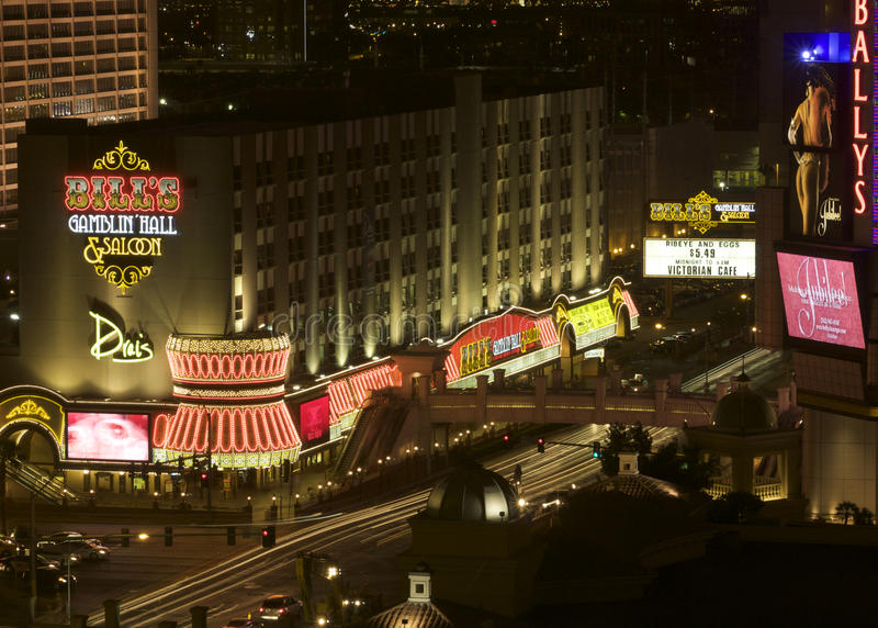 złącza las noc paska Vegas widok fotografia stock