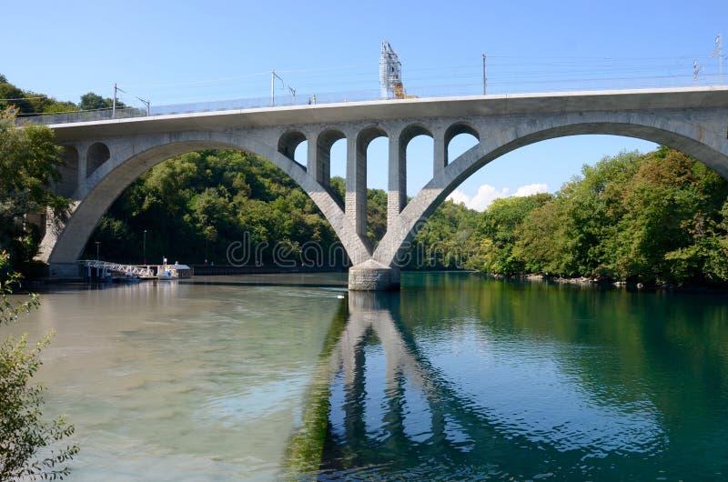 Złącze most w Genewa obrazy royalty free
