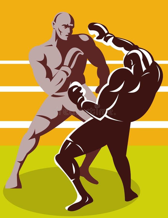 złączony boksera nokaut ilustracja wektor