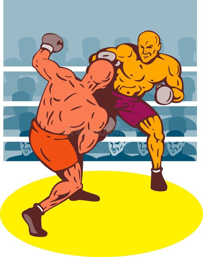 złączony boksera nokaut royalty ilustracja