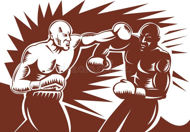 złączony boksera poncz ilustracja wektor