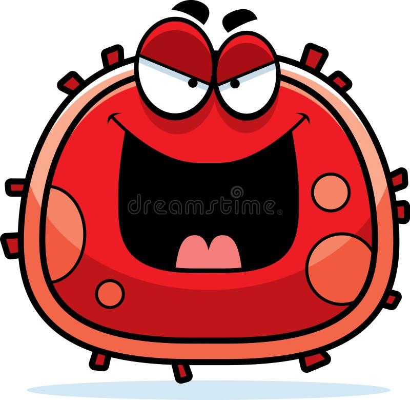 Zła Czerwona komórka krwi ilustracja wektor