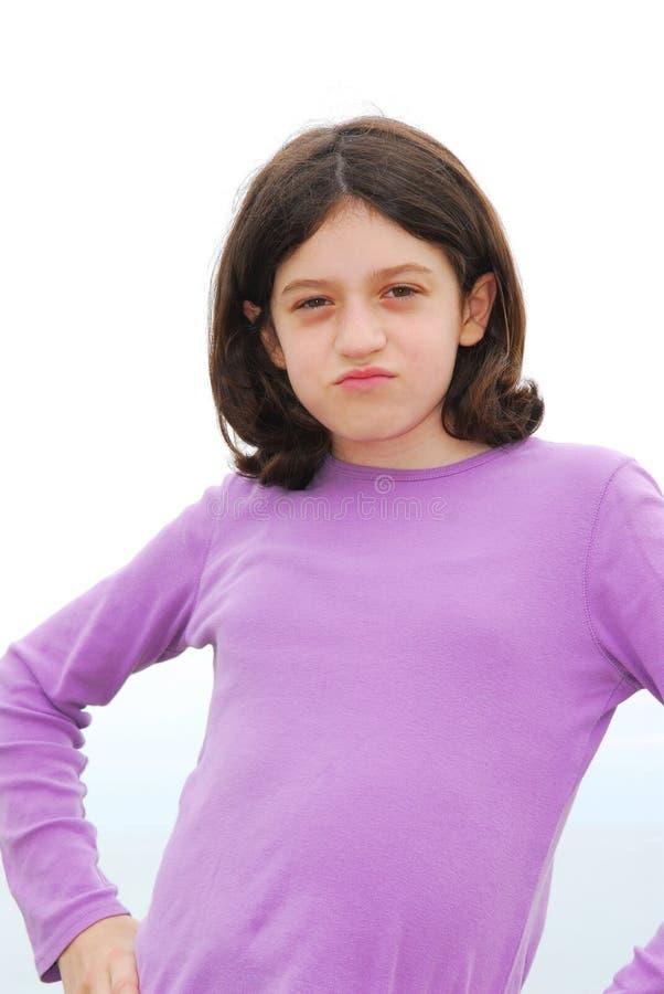 zła dziewczyna zdjęcie royalty free