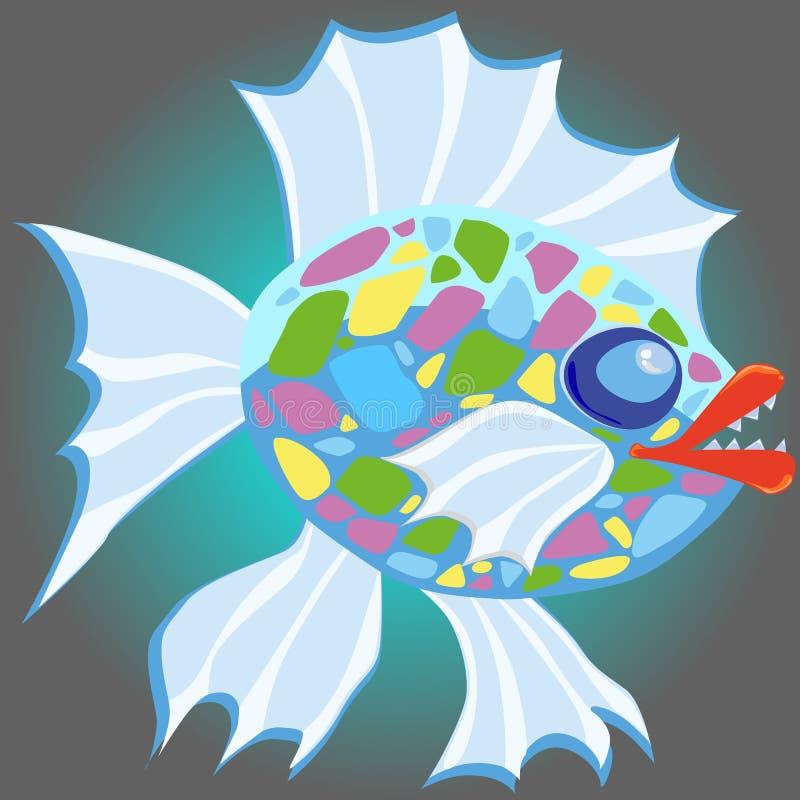 Zła kreskówki ryba royalty ilustracja