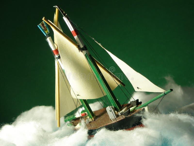 zła pogoda cierpienia łódź modelu zdjęcia stock