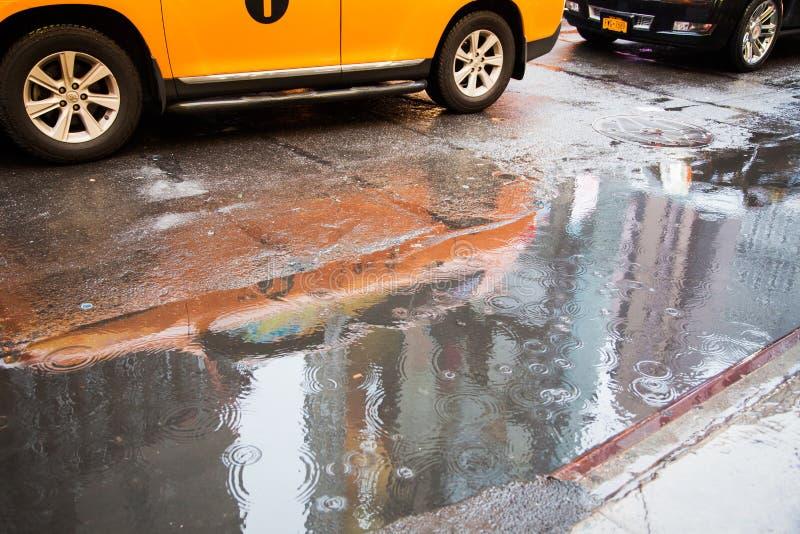 Zła pogoda w Nowy Jork fotografia stock