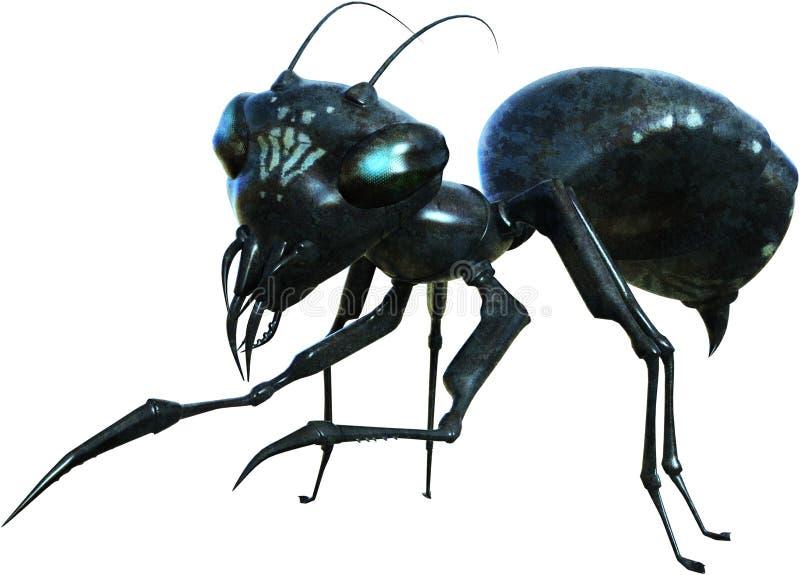 Zła potwór mrówka, bestia, Odizolowywająca, insekt royalty ilustracja