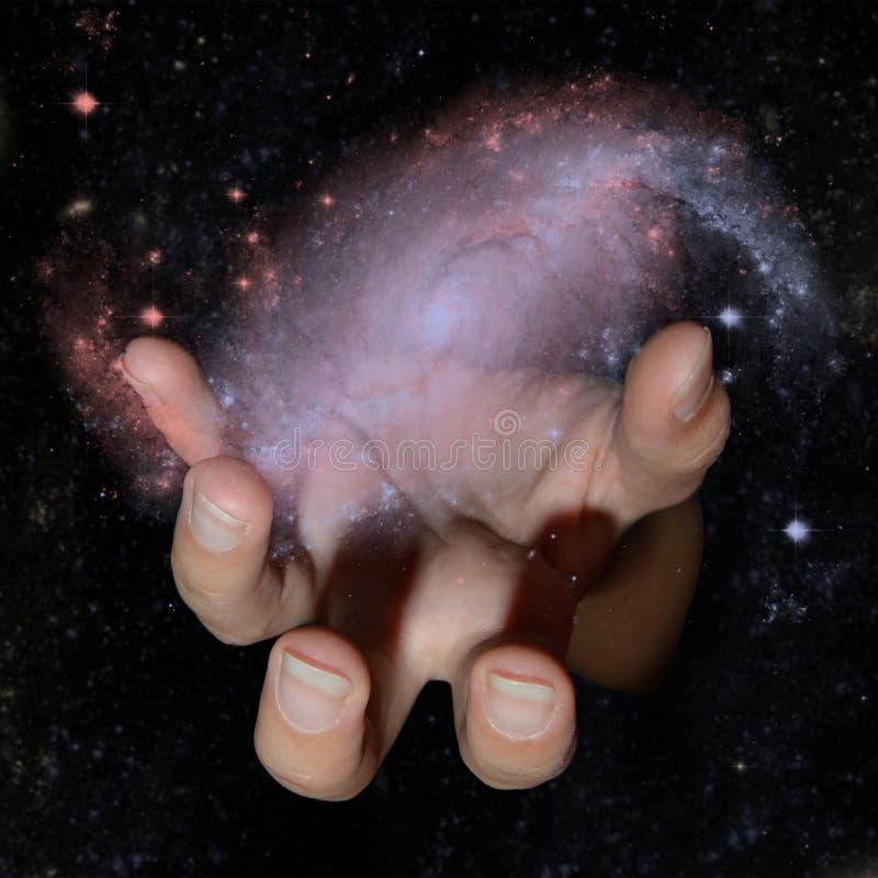 Zła ręka w wszechświacie zdjęcie royalty free