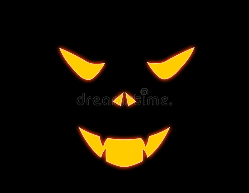 zła twarz Halloween royalty ilustracja