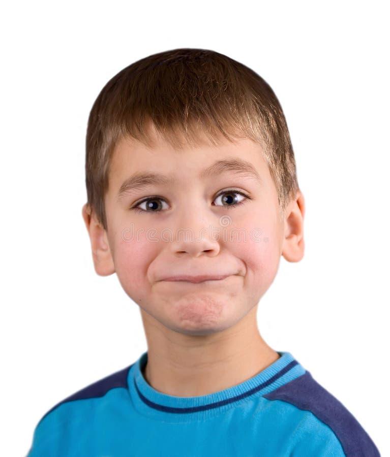 zła zdziwienie chłopcze zdjęcie stock