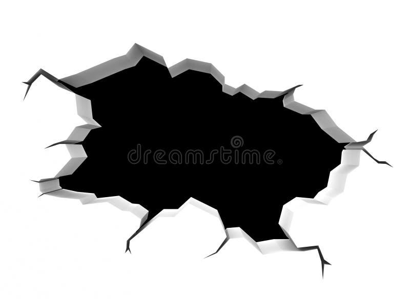złamana ściany royalty ilustracja