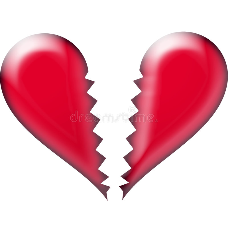 złamane serce obrazy stock