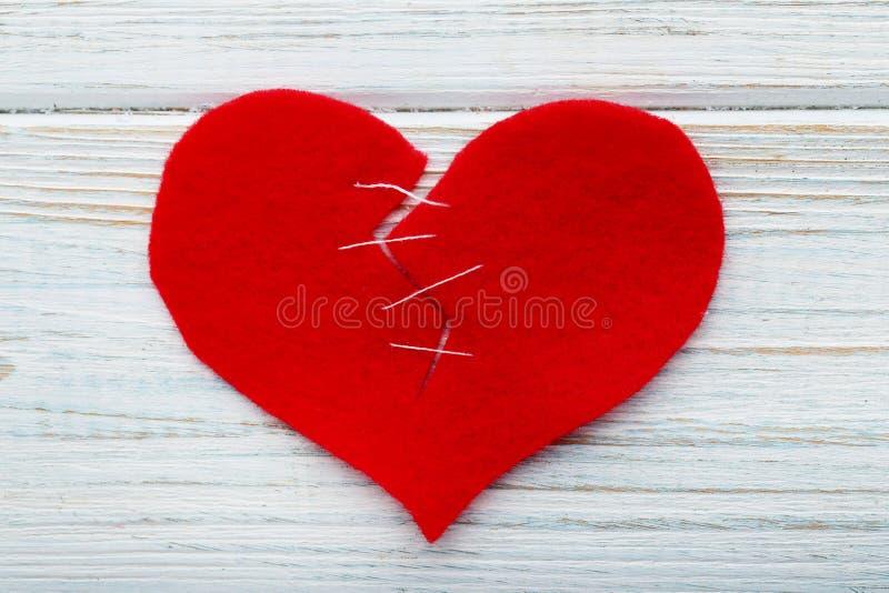 złamane serce czerwień obrazy royalty free
