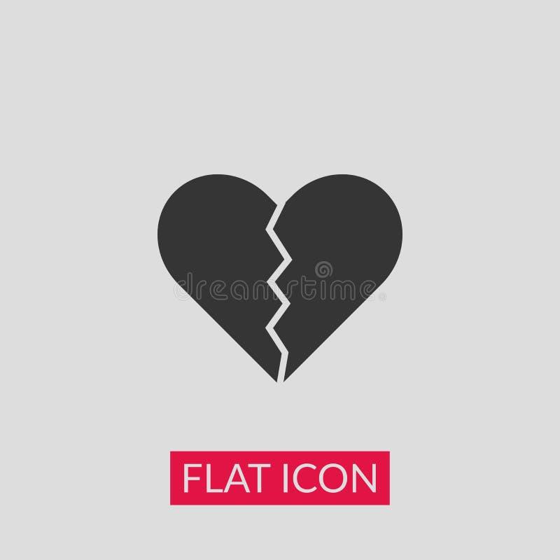 Złamane serce ikona ilustracji
