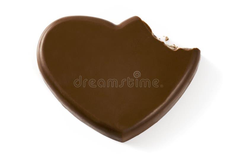Złamane serce kształta czekolada zdjęcie stock