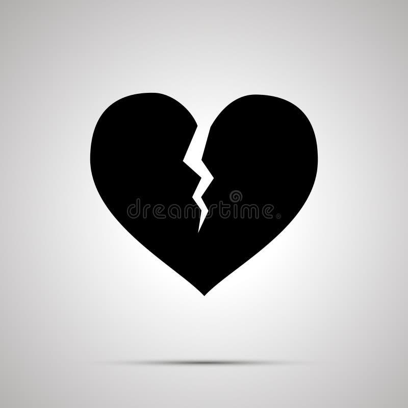 Złamane serce prosta czarna ikona royalty ilustracja