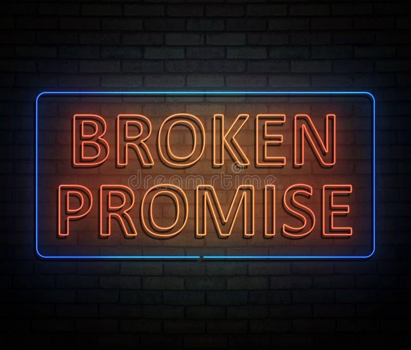 Złamanej obietnicy pojęcie ilustracja wektor