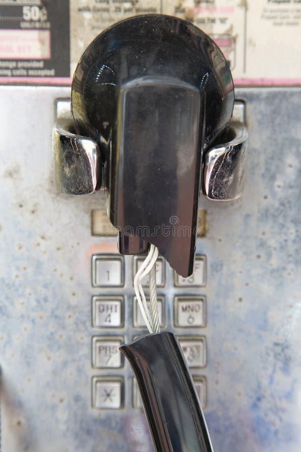 złamany budki telefonicznej zdjęcie stock