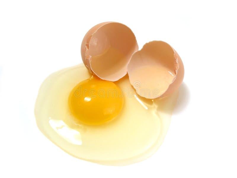 złamany egg white obrazy stock