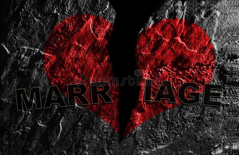 złamany małżeństwa obrazy stock