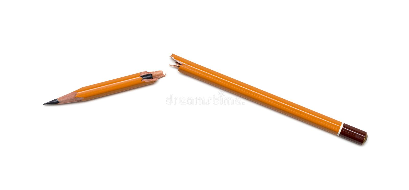złamany ołówek obraz royalty free