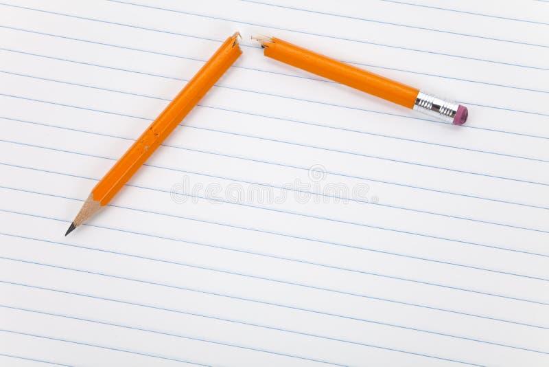 złamany ołówek zdjęcie stock