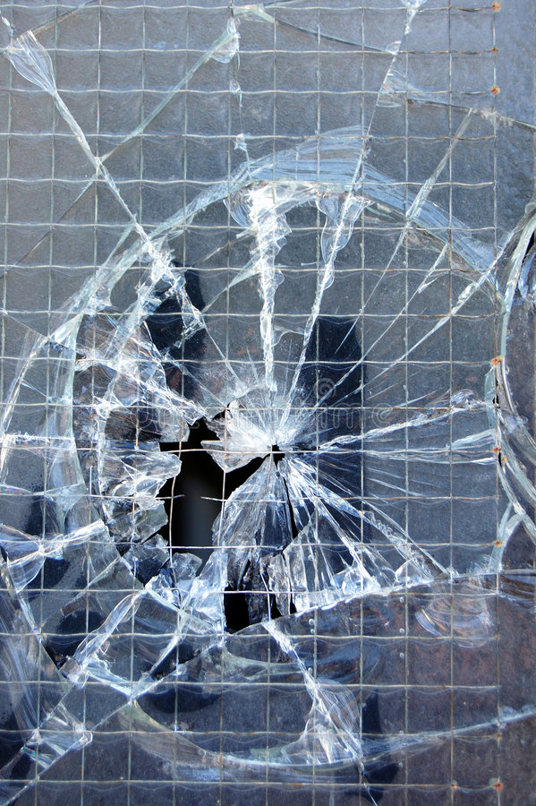 złamany tekstury okno obraz stock