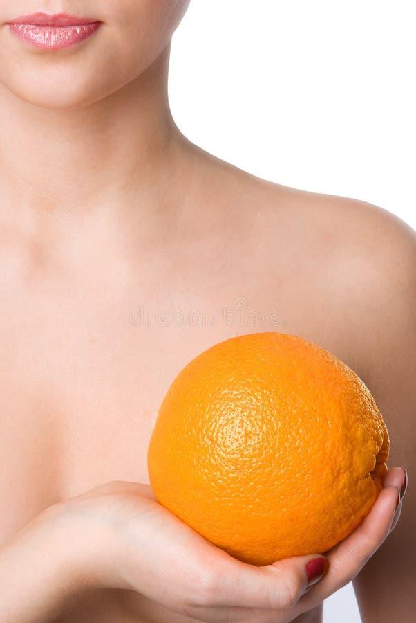 złap rękę zbliżony pomarańczę wybiera kobiety zdjęcia royalty free
