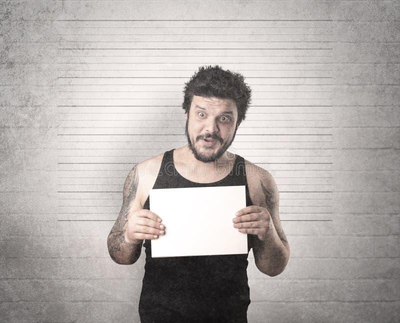 Złapana przestępca w więzieniu obrazy stock