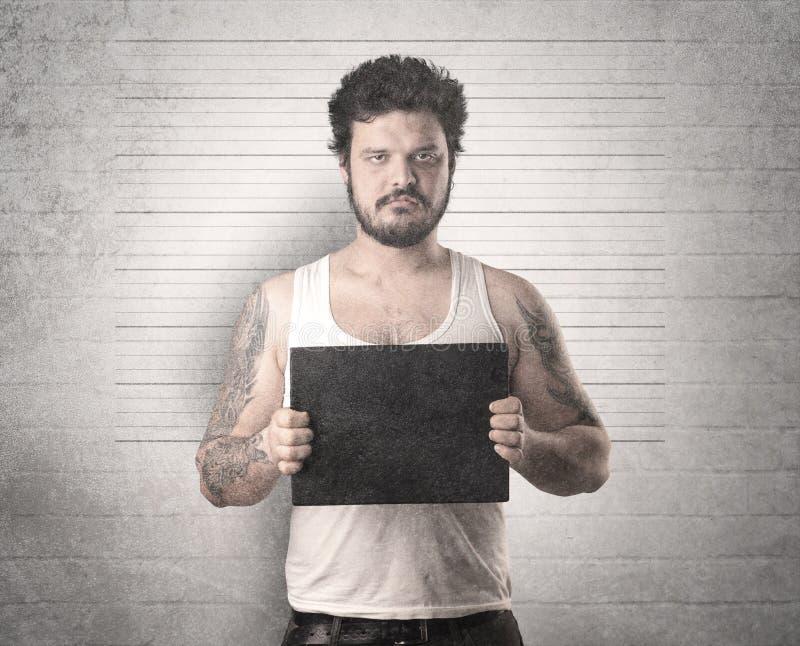 Złapany gangster w więzieniu obrazy royalty free