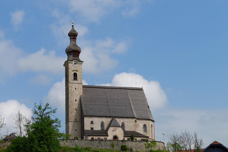Złość kościół widok zdjęcia stock