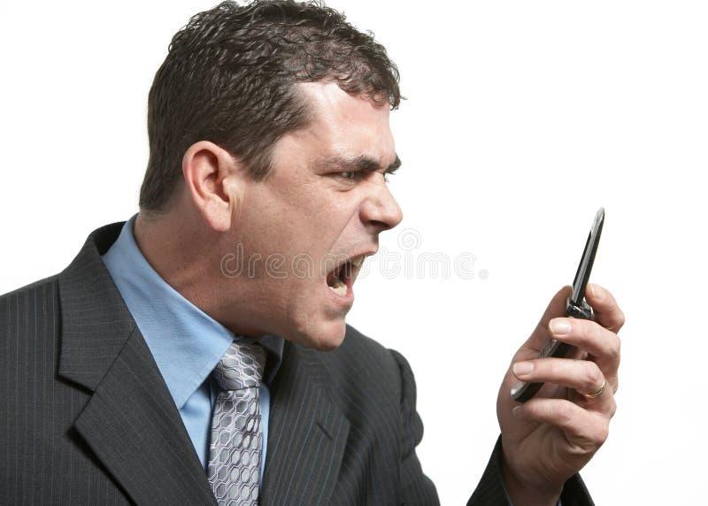 złość telefon fotografia stock