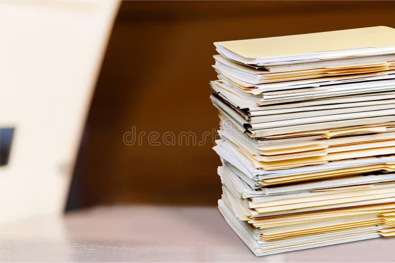 złożone dokumenty zdjęcia royalty free
