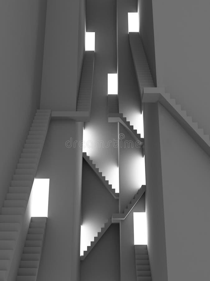 złożone po schodach ilustracji