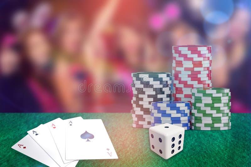 Złożony 3d wizerunek obraz cyfrowy czerwoni kostka do gry ilustracji