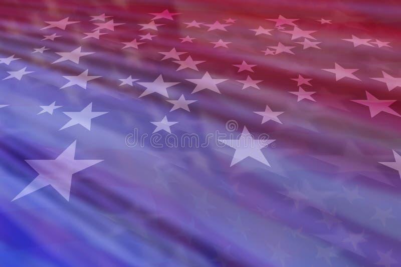 Złożony tło wizerunek Amerykańskie gwiazdy i lampasy obrazy royalty free