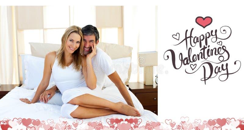 Złożony wizerunek śliczna valentines para ilustracja wektor