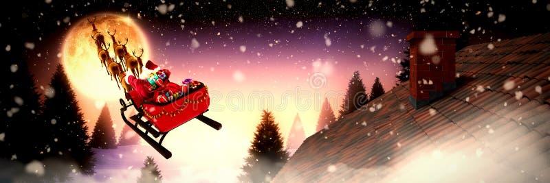 Złożony wizerunek śnieżny spadać royalty ilustracja